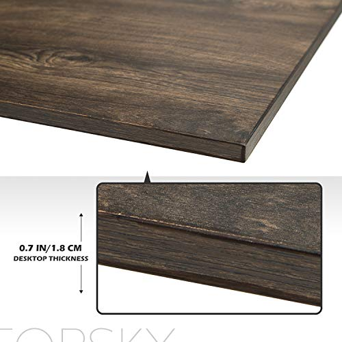 TOPSKY 51.2''x21'' One-Piece Table Top for Electric Standing Desk Adjustable Desk(Espresso Gray Board only)