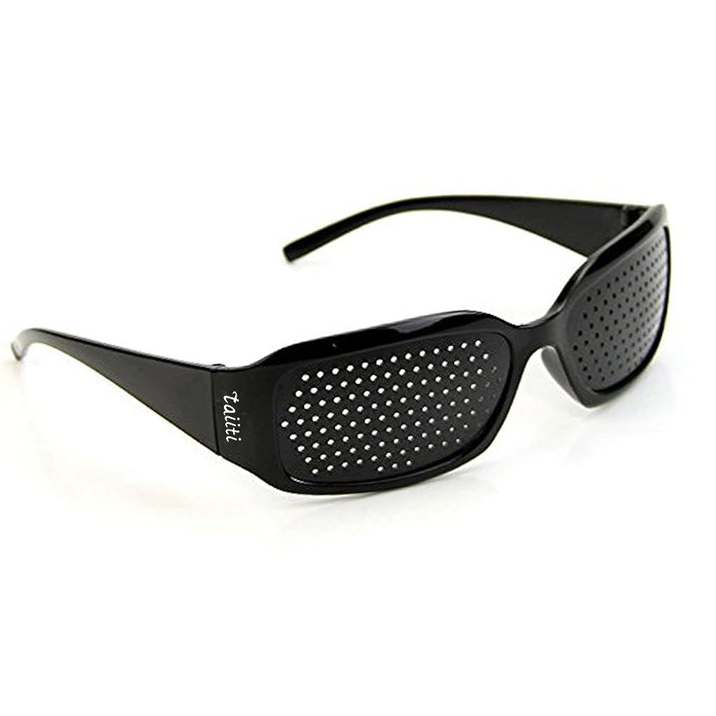 表面的なカプセル回るピンホールメガネ 視力回復 【近視 遠視 老眼 乱視の改善】 フリーサイズ 男女兼用 眼筋力 アップ