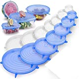 GODSON Microwave Safe Silicone Stretch Lids reuseable Flexible Covers for Rectangle, Round, Square...