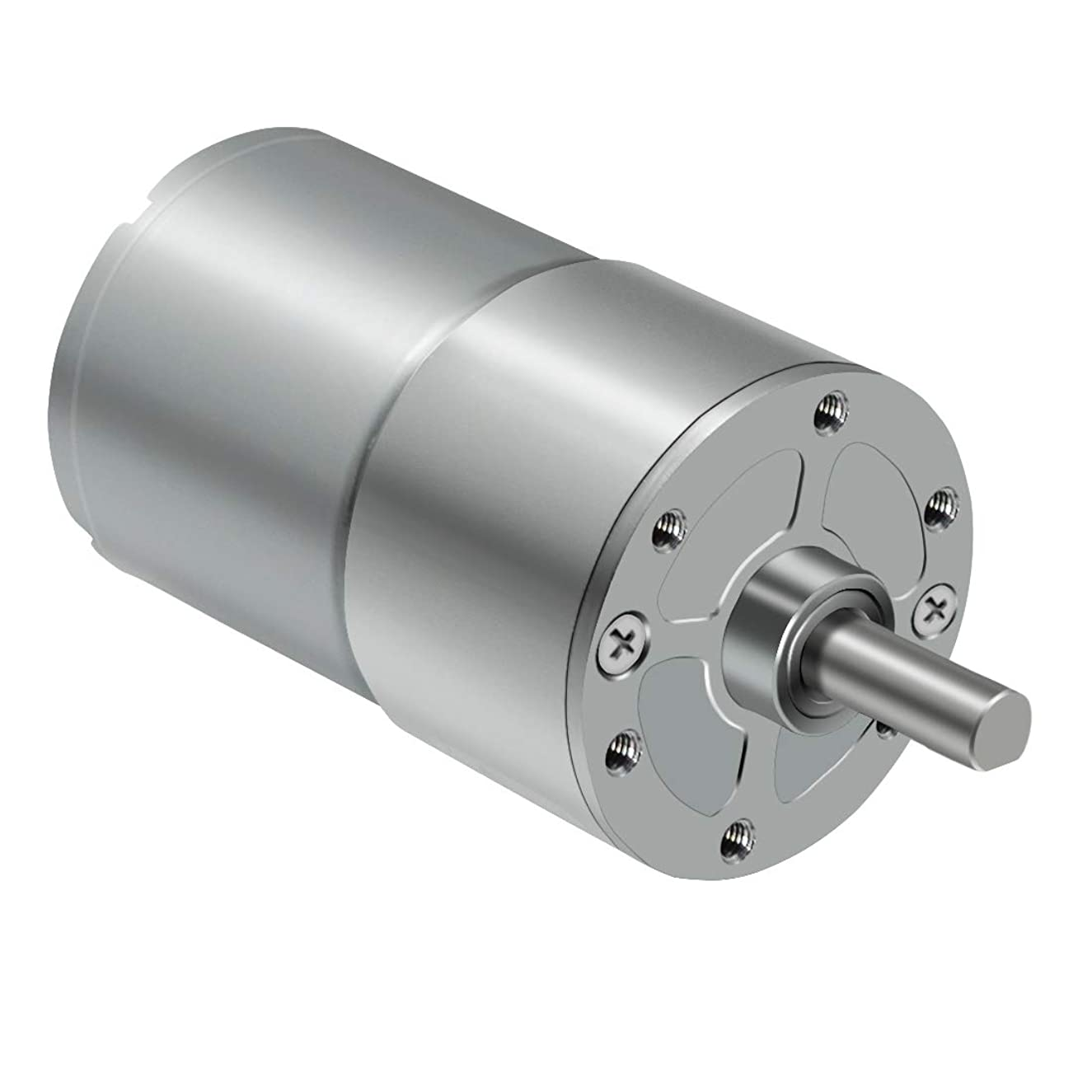 LMioEtool DC Electric Gear Motor, High Torque Reversible Mini Speed Reduction Geared Motor, with Metal Reducer Gearbox - Centric Output Shaft 37mm Diameter(12V/200RPM)