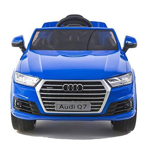 Auto Elettrica Per Bambini Audi Q7 Nera 12 V, Telecomando 2,4 Ghz, Sedile in Pelle e Impianto Audio Digitale, SD 4Gb - MP3 - Esclusiva Farano Store