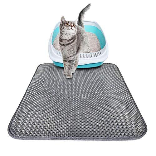 ASDFGHJKL Haustier-Katzen-Wurf Mat Wasserdichtes Katzentoilette Trapping Mat Eva Haustier-Welpen-Kätzchen-Toiletten Matten Mit Anti-Rutsch-Pad Unten