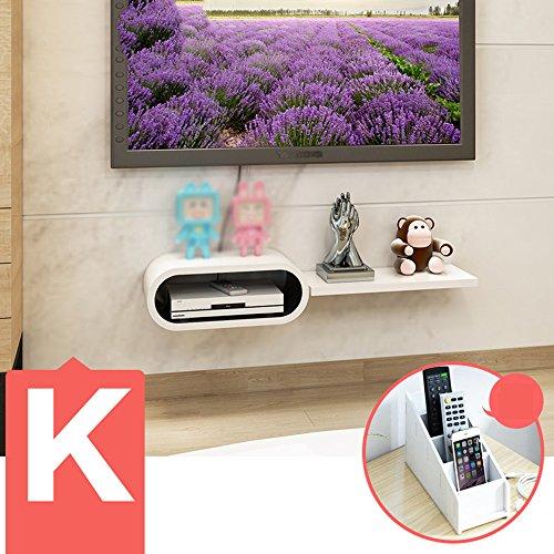 Décoration Murale Meiduo Set-Top Box étagères Meuble TV TV étagère Murale Salon Murale partitions étagère Murale (Multiples Styles Disponibles) Décoration Murale