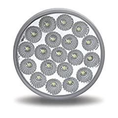 """TRUX TLED-4X40 4"""" Dual Revolution Clear Stop, Turn, Tail & Backup LED 19 Diodes"""