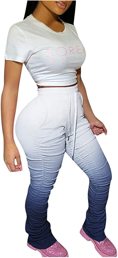 Womens Joggers High Waisted,Women's Sweatpants Pockets High Waist Sporty Athletic Fit Jogger Pants Lounge Trousers