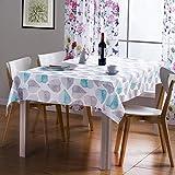 Pflegeleichte Tischdecke Tischtuch Tischwäsche Wachstischdecke Wachstuch Wachstuch Tischdecke Pflegeleicht Tischtuch Haushalts-Esstischdecke, Blattmuster, Quadratische Tischdecke Aus Oxford-Stoff - 5