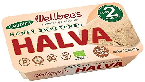Wellbee's Honey Halva - Paleo & SCD Approved - No Additives, Refined-Sugar, or Artificial Sweeteners - 75g Each - 3 Pack (Original - Organic)