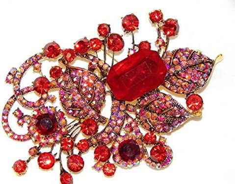NICONAD Supplies Discount is also underway Max 58% OFF for Red Ruby Pendant Br Crystal Rhinestone Gold