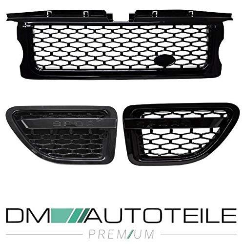 DM Autoteile Range Rover Sport L320 Grill Kühlergrill Schwarz 05-10 SPORT +Kotflügeleinsätze