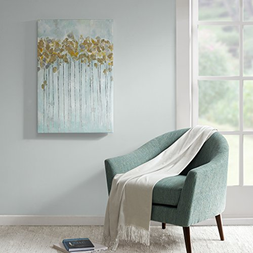 Madison Park Mint Forrest Wall Art Hand Embellished Abstract Canvas Modern Floral Abstract Design Global Inspired Painting Living Room Accent Decor Gold 24 X 36 Buy Online In Botswana At Desertcart