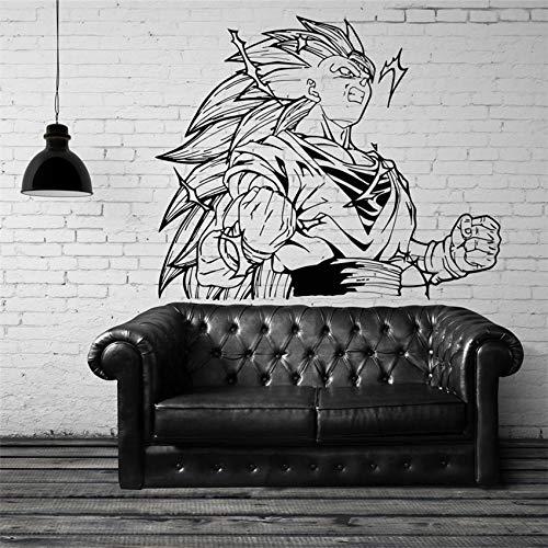 Dragon Ball Sun Wukong calcomanías de vinilo para pared pegatinas decoración del hogar sala de estar dormitorio arte murales pegatina de pared desmontable 58 * 70 cm