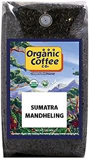 The Organic Coffee Co, Sumatra Mandheling- Whole Bean, 2-Pound (32 oz.), USDA Organic