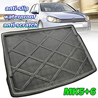 XUKEY for VW Golf MK6 Rabbit R R32 GTI Cargo Liner Boot Rear Trunk Mat Tray Floor Carpet Luggage Tray Mud Kick Pad Tailored