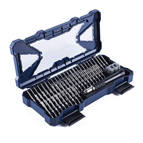 Nanch Precision Screwdriver Set Magnetic,Professional Toolkit Includes One Handy Driver and 55 S2 Precision Bits for Electronics and General Household Repair.