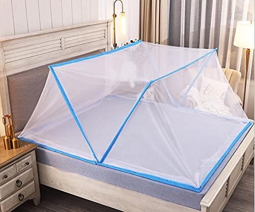 CHENNA 2021 Tienda de Mosquitos de la Tienda, la Pantalla de Insectos del tablón de los Mejores Agujeros sin paréntesis, Plegable rápido y fácil de Instalar (Size : 190x160cm)