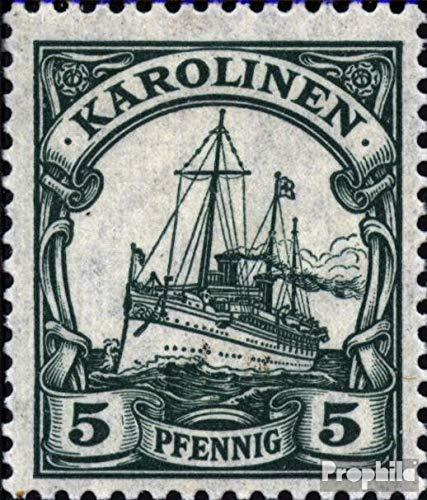 Prophila Collection Carolinas (alemán.Colonia) a21 examinado 1919 yate del Emperador (Sellos para...
