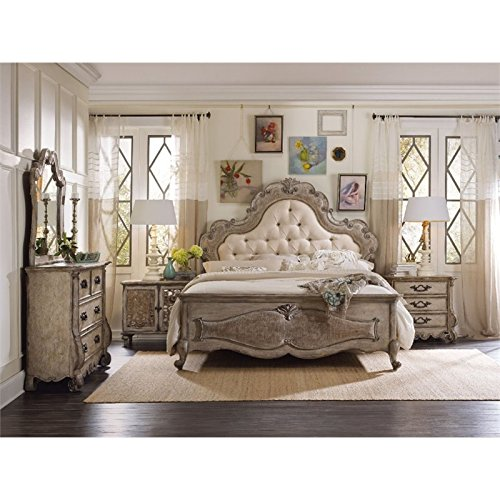 Amazon Com Hooker Furniture Chatelet 3 Piece King Upholstered Panel Bedroom Set Furniture Decor