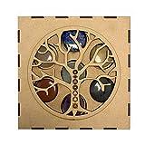 Lamare Set Minerales 7 CHAKRAS en caja madera (Árbol de la vida)