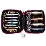13 pares de agujas de tejer circulares, juego de agujas de tejer intercambiables con cable de extensión, tamaño de 2,75 mm a 10 mm