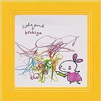 アートフレーム リトルピンク&ブロキガ ミニアート フレーム ブロキガ24/ 絵画 壁掛け のあゆわら
