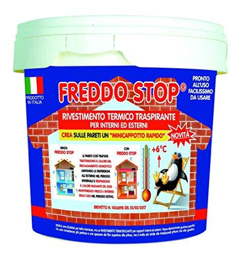 Tecnostuk Freddo Stop guaina termoisolante traspirante per interno ed esterno lt.2,5 per recuperare 5/6 ° in casa …