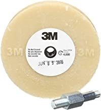 "3M Stripe Off Wheel – Adhesive Remover – Eraser Wheel – Removes Decals, Stripes, Vinyl, Tapes and Graphics – 4"" diameter x 5/8"" thick – 3/8-16 threaded mandrel – 07498 – Pack of 1"