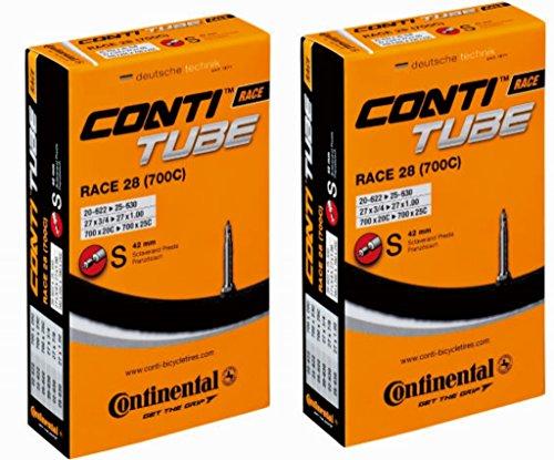2本セット コンチネンタル(Continental) チューブ Race28 700×20-25C(仏式42mm) 【並行輸入品】