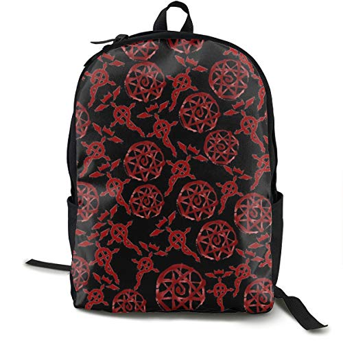 Classic Backpack,Fma Symbols Casual School Bag Large Capacity Novelty Laptop Bag for Teens Women Men Travel Hiking