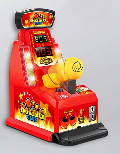 Brigamo Mini Boxautomat mit Sound & Highscore, Büro Gadget,Partyspiel