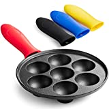 DELICIOUS DANISH TREATS: Create delectable Danish pancake balls with the Klee Cast Iron Aebleskiver Pan! Light and fluffy, Ebleskiver are a popular Danish delicacy, enjoyed at parties, holidays and celebrations. Ebleskiver are traditionally served wi...