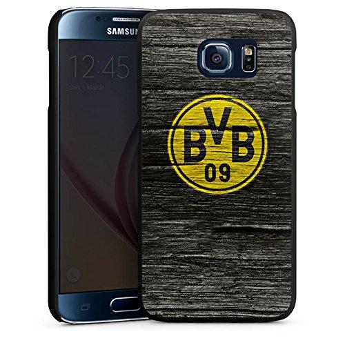 DeinDesign Hülle kompatibel mit Samsung Galaxy S6 Handyhülle Case Borussia Dortmund BVB Holzoptik