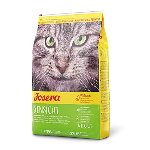 JOSERA SensiCat (1 x 10 kg) | Katzenfutter mit extra verträglicher Rezeptur | Super Premium Trockenfutter für ausgewachsene und emfpindliche Katzen | 1er Pack