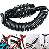 Candado de Bicicleta, BESTZY Mini Candado de Bicicleta Portátil Bloqueo de Cable de Bicicleta Antirrobo Reiniciable 4 Dígitos para Cerraduras de Equipaje de Viaje Bloqueo de Casco