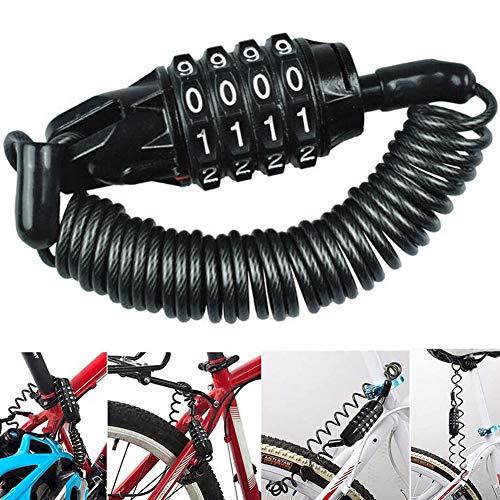 Fahrradschloss, BESTZY Kabelschloss mit -Stellig Zahlencode Zahlenschloss Fahrradhalterung Fahrradschloß Zahlen 150 cm Länge Tragbare Zahlenschloss für Kinder und Erwachsene