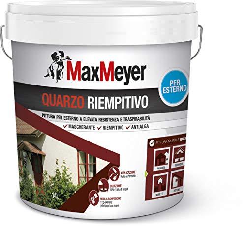 MaxMeyer Pittura per esterni Quarzo Riempitivo Antialga BIANCO 14 L