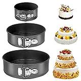 Ropniik Moldes para Pasteles, 3 Piezas Redondo Spring Forma Set, Molde de Horno Desmontable/Sartén para Pasteles Cake con Doble Capa Antiadherente (18cm/20cm/22cm)