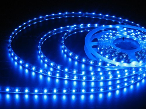 JnDee Blau Leiste LED Strip Streifen LED Band Lichtlinie Wasserdicht 1 Meter mit 60 SMD 3528 LEDs DC 12V