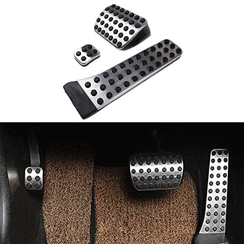 BTSDLXX Hohe Leistung Auto Pedale Covers, für Mercedes Benz KLASSE C/E/S/GLK/SLK/CLS/SL MT Fuel Gaspedal Bremse Gleitschutz Trittbrett Fußschemel Pedalkappen Fußstütze Pedal, Edelstahl