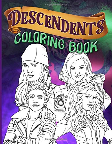 Descendants Coloring Book: Coloring Books For Adult And Kid Activity Book Lover Gifts