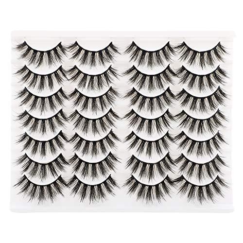 Ruairie False Eyelashes, 14 Pairs Fake Eyelashes Fluffy Volume Natural False Lashes Strip