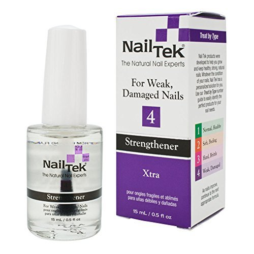 NailTek Xtra 4 Strengthener for Weak Damaged Nails 0.5oz by Nail Tek