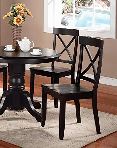 Classic Black Pair of Dining Chairs by Home Styles