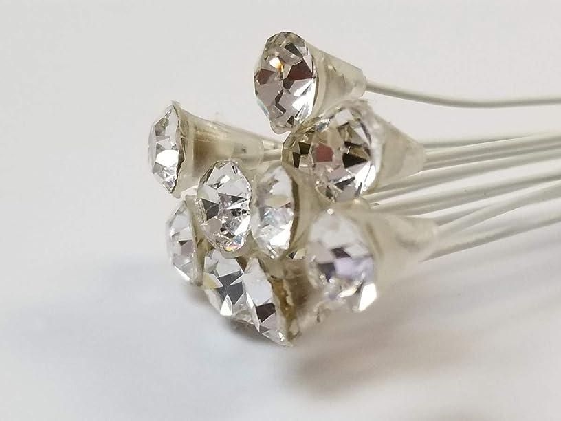 Corsage Picks - 6 mm Rhinestone Pick - Crystal