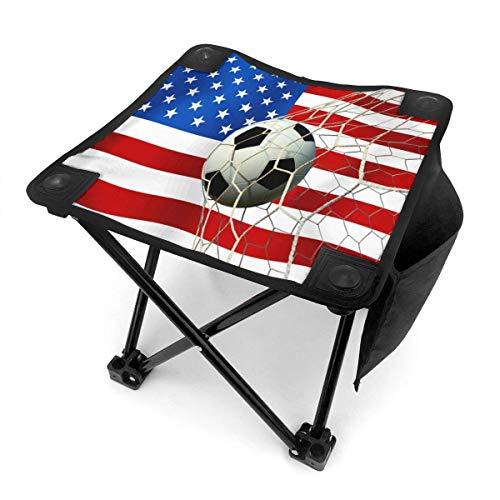 End Nazi Camping Stool USA Soccer Ball Silla de Camping Taburete Plegable para Viajes de Pesca