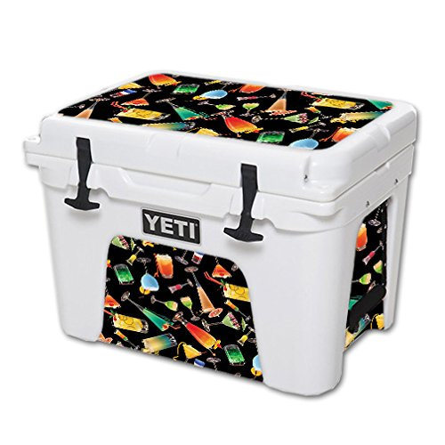 MightySkins (Cooler Not Included) Skin Compatible with YETI 35 qt Cooler – Cocktail Therapy | Protective, Durable, and Unique Vinyl Decal wrap Cover | Easy to Apply | Made in The USA