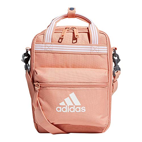 adidas Squad Insulated Lunch Bag, Ambient Blush Pink, One Size