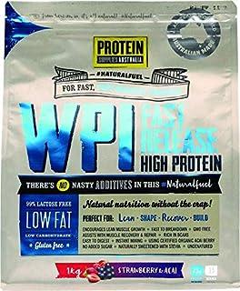 Protein Supplies Australia Whey Protein Isolate Powder, Strawberry and Acai 1 kg,, Strawberry and Acai 1 kilograms