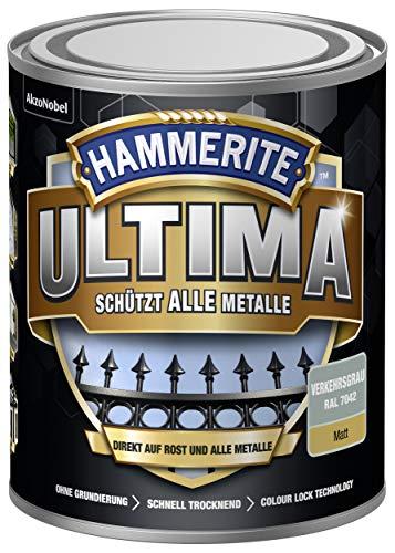 HAMMERITE Metallschutz-Lack ULTIMA Verkehrsgrau Matt 750ml - 5379758