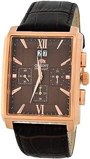 Men's Chronograph Quartz Watch with Leather Strap FTVAA001T0