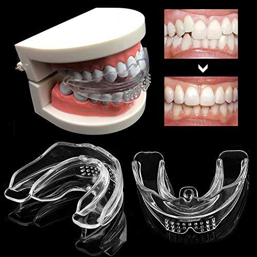 LIZONGFQ 2ST Dental Silikon Zahnspangen Zahnspangen Kieferorthopädie Trainer Zähne Fixer Molar Mundschutz-Strecker